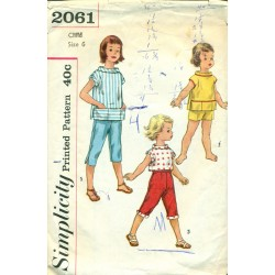 Girls Capri Pants, Shorts & Top Pattern