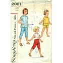 Girls Capri Pants, Shorts & Top Pattern