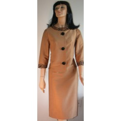 Pencil Skirt Outfit with Jacket Brown