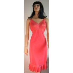 Full Length Slip Orange with Pleats