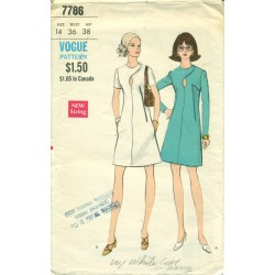 Stylish A-Line Dress Pattern by Vogue