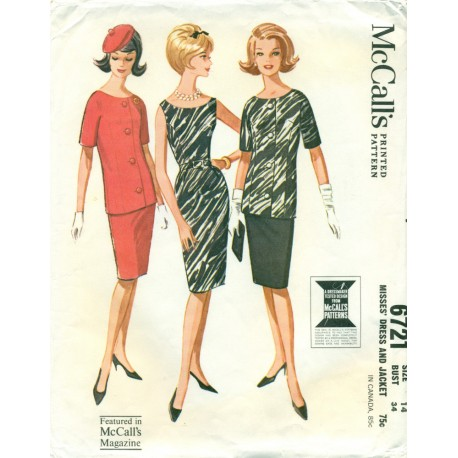 Pencil Dress with Jacket Pattern McCalls