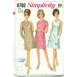 A-Line Dress Pattern Simplicity 1960's