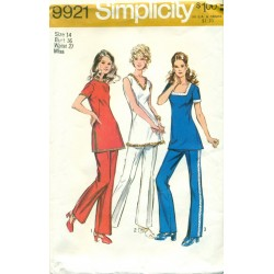 Pant Suit Sewing Pattern Casual 1970s