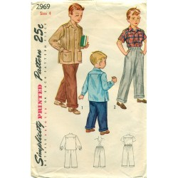 Boys Pants & Shirt Sewing Pattern 1940s