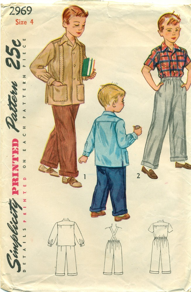 Boys Pants Shirt Sewing Pattern 1940s Angel Elegance Vintage