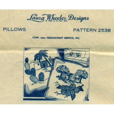 Laura Wheeler Transfer Designs Pillows