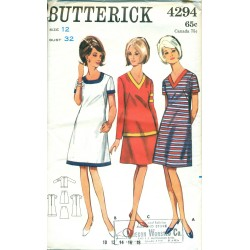 Butterick A-Line Dress Pattern, Skirt & Top