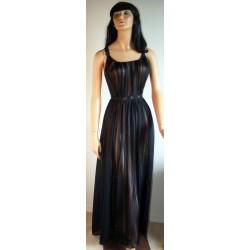 Black Nightgown See Through Nylon Rogers