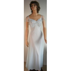 Long Nightgown Blue Negligee Romantic
