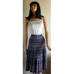 Pendleton Pleated Wool Skirt Gray