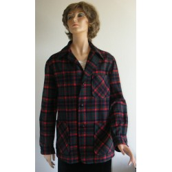 Pendleton Topster Jacket 1950s Red Plaid
