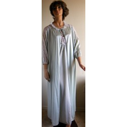 Nightgown and Robe Set Peignoir Lt. Green