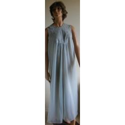 Night Gown Blue Flowy Van Raalte 1960's