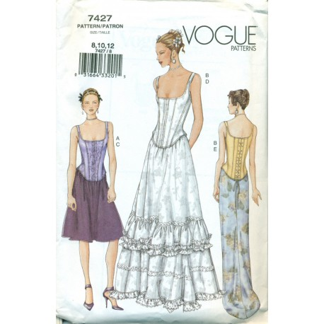 Corset and Petticoat Style Pattern Vogue