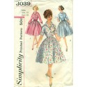 Full Skirt Dress Sewing Pattern 1950s