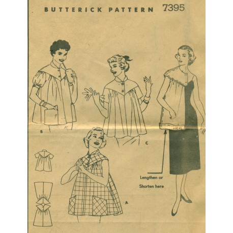 Maternity Top Pattern 1950s Butterick 7395
