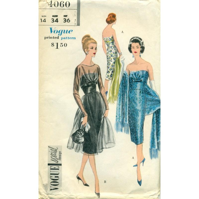 1950s cocktail dress patterns