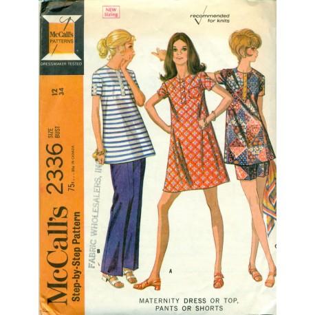 Maternity Dress Top Pants & Shorts Pattern