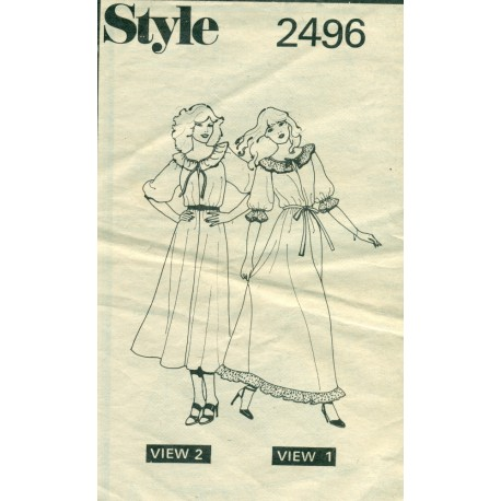 Dress Pattern Instructions Style 2496