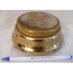 Powder Box Musical Gold Cupid Trinket