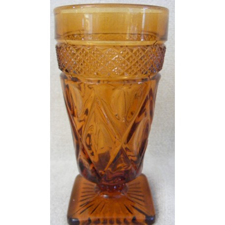 Imperial Cape Cod Water Goblet Amber Glass