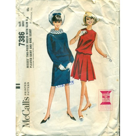 Dress Sewing Pattern Slim Pleated Skirt