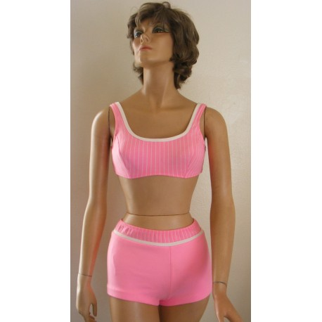 1960s Catalina Swimsuit Bikini 2 Piece