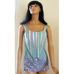 1960s Swimsuit 2 Piece Bathing Suit