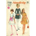 1960s Dress Sewing Pattern Yng Jr Teen