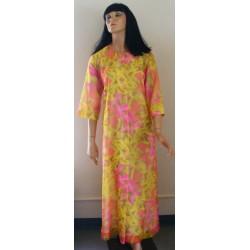 Keyloun Chiffon Robe Lingerie 1960s 1970s