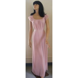 Vanity Fair Nightgown Pink 1950s Pleats