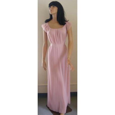 Vanity Fair Nightgown Pink 1950s Pleats