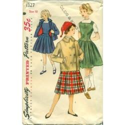 Girls Sewing Pattern Dress Jacket Pleats
