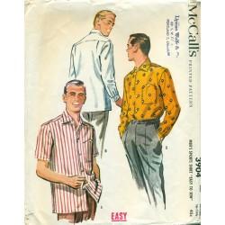 Mens Sewing Pattern Shirt 1950s McCalls
