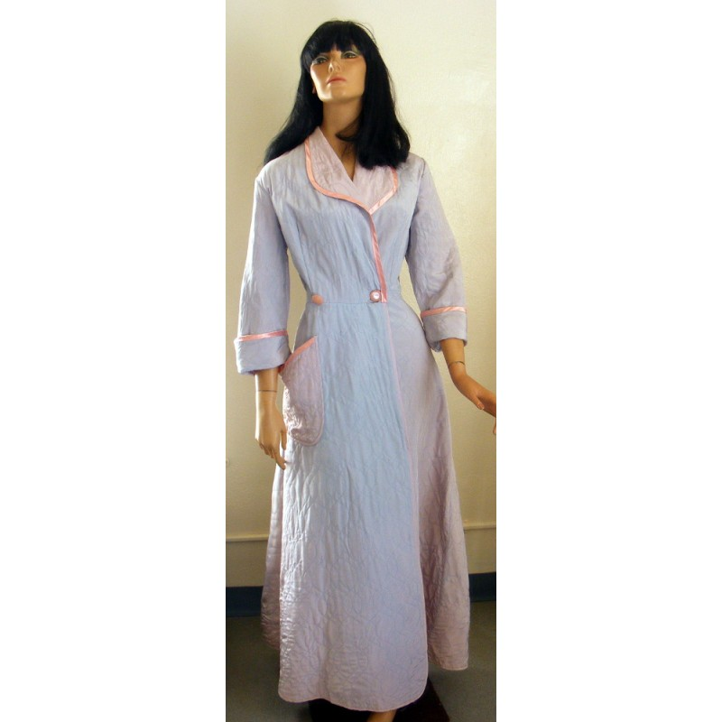 Quilted Robe 1960s Lyn Dell Womens Angel Elegance Vintage