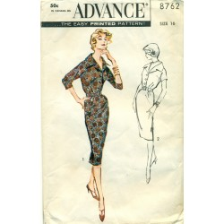 Dress Sewing Pattern Slim Skirt Advance