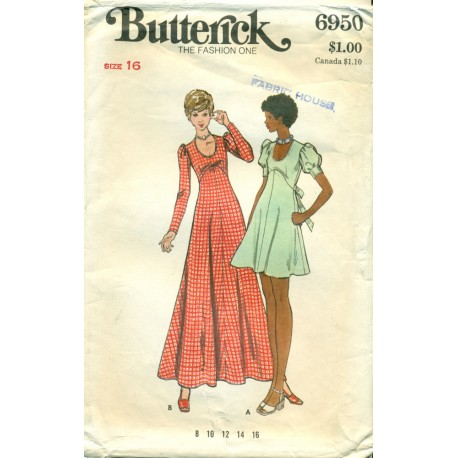 Dress Sewing Pattern Flared Skirt 1970s