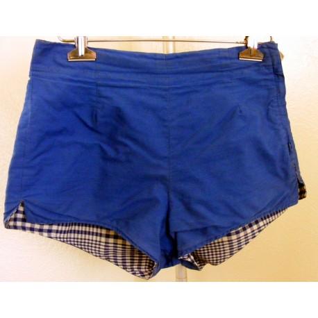 Mens Swimwear Trunks Blue Reversible