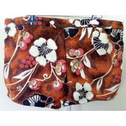 Mens Swim Trunks Hawaiian Brown Shorts