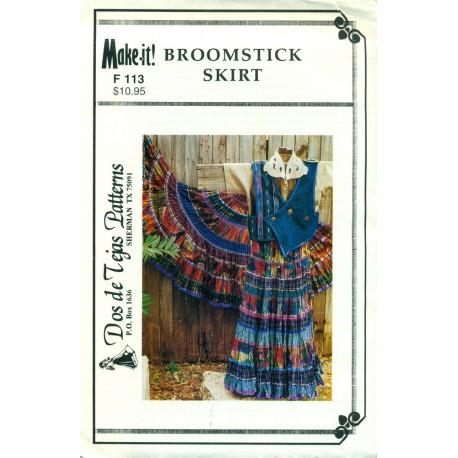 Dos de Tejas Pattern F113 Broomstick Skirt
