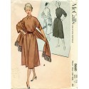 Dress Stole Sewing Pattern McCalls 1950s