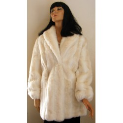 Faux Fur Coat Jacket Women White Unreal