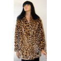 Fake Fur Coat Leopard Print Winter Fall