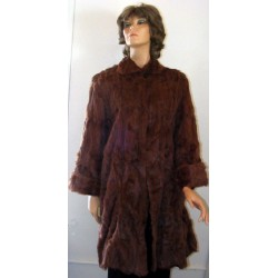 Fur Coat Womens Genuine Swing