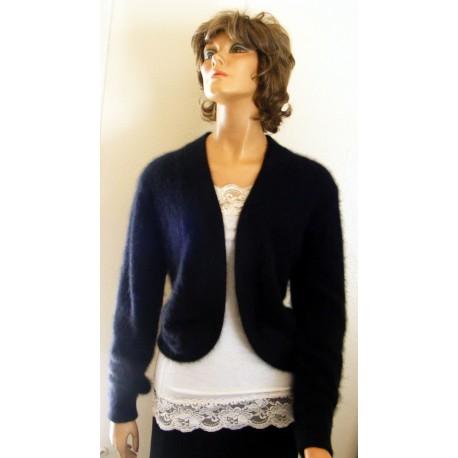 Angora Sweater Black Valerie Stevens 1980s