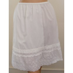 Half Slip Cotton White Lingerie Women