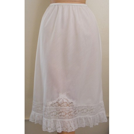 White Cotton Half Slip Parisian Maid