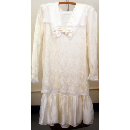 Gunne Sax Dress Girls White Wedding