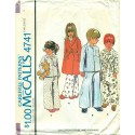 Pajama Robe Childrens Sewing Pattern 1970s